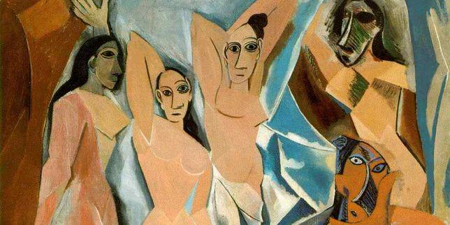 """Tableau """"Les demoiselles d'Avignon"""", Picasso,"""