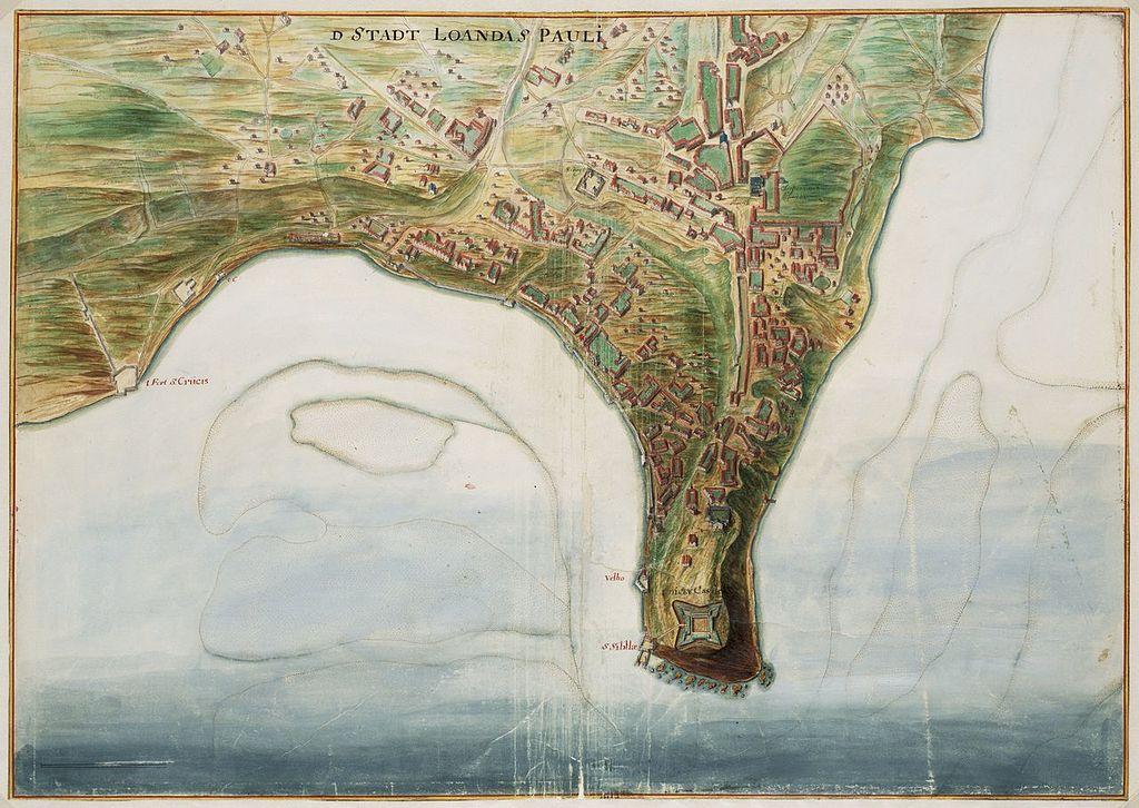 Plan de Luanda au 17° siècle