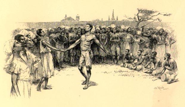 La danse à la Place Congo par E.W. Kemble.