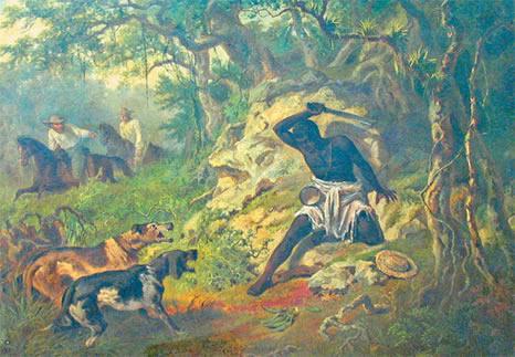Cimarron luttant pour sa liberté