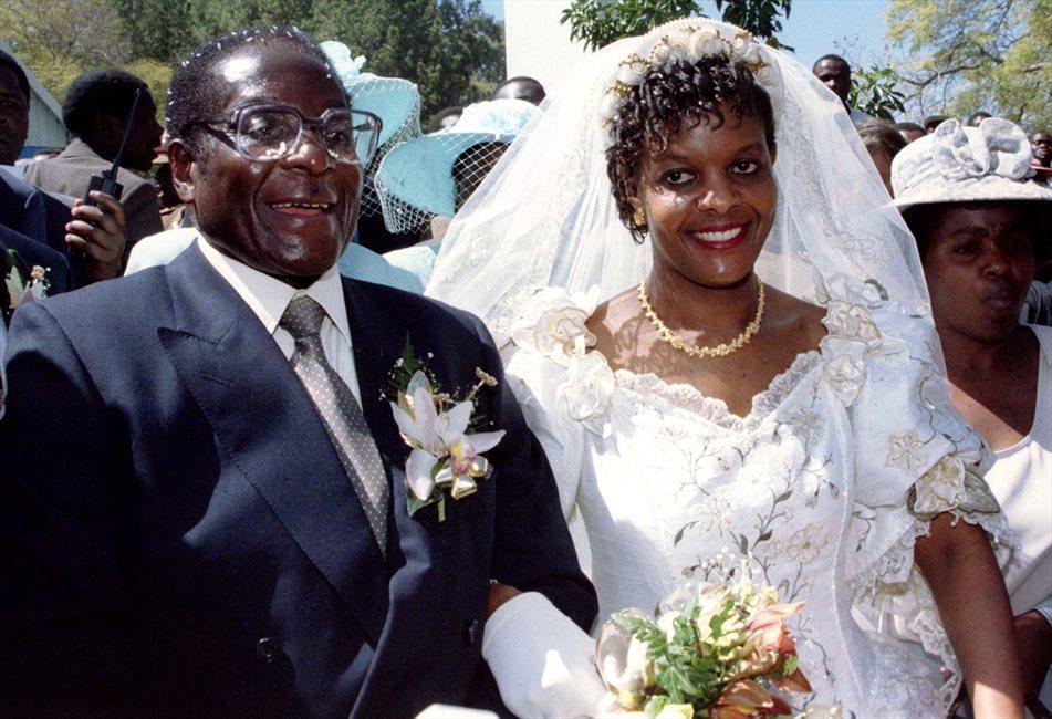Grace Mugabe, Première dame du Zimbabwe depuis leur mariage en 1996.