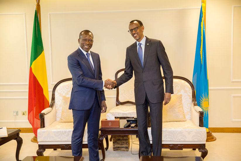 Paul Kagame et Patrice Talon au Rwanda