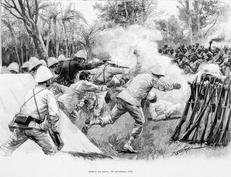 Combat de Dogba, 19 Septembre 1892