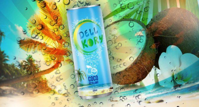 Dell Kory: l'eau de coco pétillante par Jeune Nozier Delly