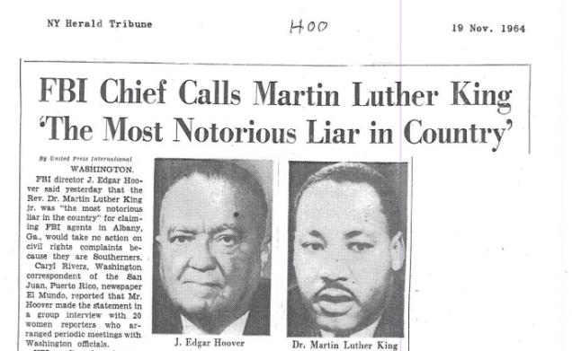 Le FBI honore Martin Luther King sur Twitter après avoir voulu sa mort en 1968