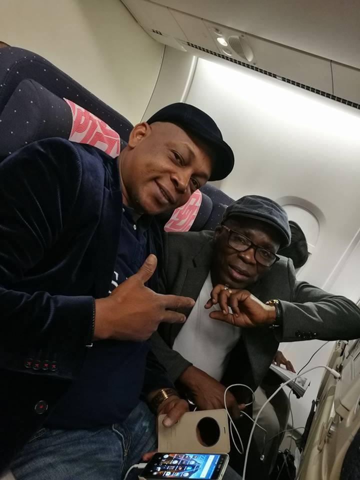 """Digbeu Caravet et Gohou Michel en promotion pour le film """"Bienvenue au Gondwana"""""""