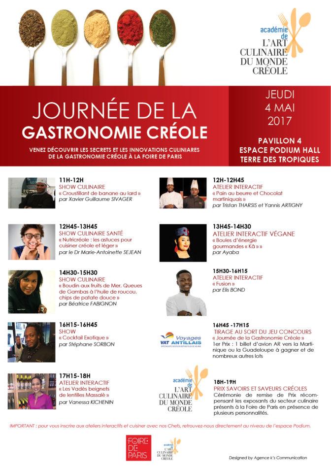 Journée de la gastronomie créole à la Foire de Paris !