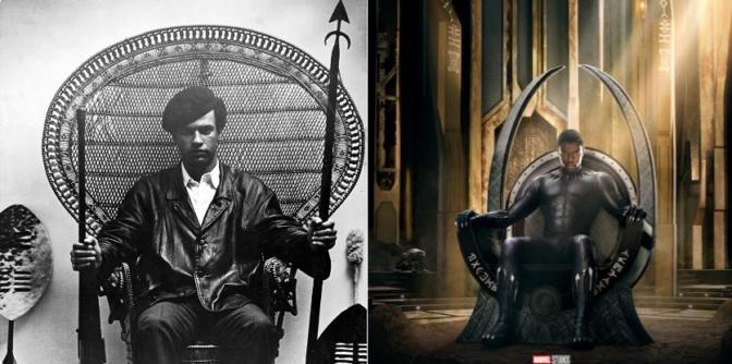 Black Panther : des similitudes entre l'affiche du film et la célèbre photo de Huey P. Newton ?