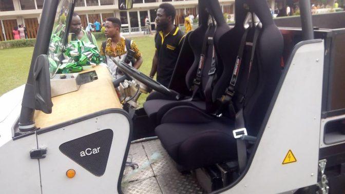 Des étudiants ghanéens construisent un véhicule 4×4 fonctionnant à l'énergie solaire