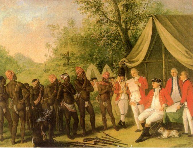 La couronne britannique contrainte de signer un traité de paix avec les Nègres Marrons jamaïcains