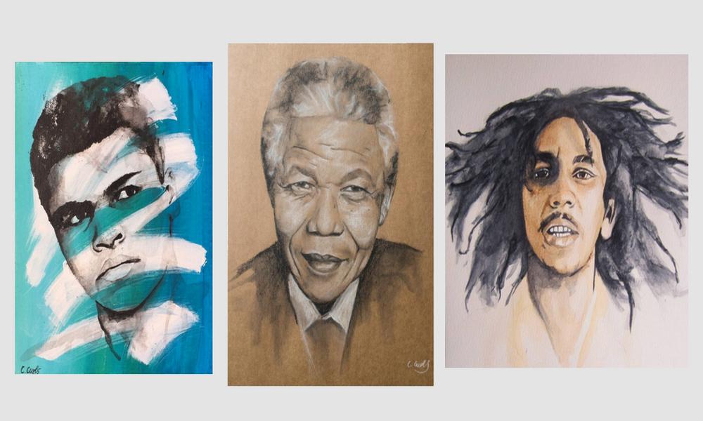 Creative Curls, l'artiste afro-britannique qui magnifie les Afro-descendants