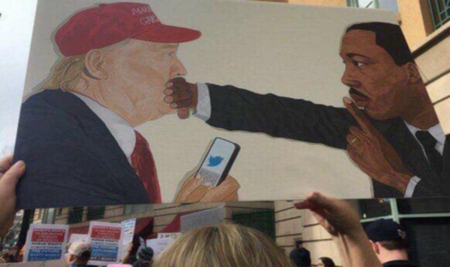 Watson Mere, l'artiste d'origine haïtienne auteur de la peinture anti-Trump qui a fait le buzz