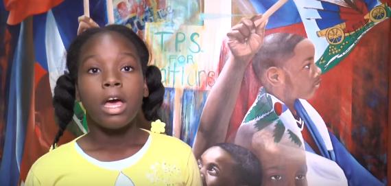 Une petite fille interpelle Trump sur la déportation prévue de 50000 Haïtiens
