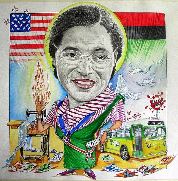 art représentant Rosa Parks