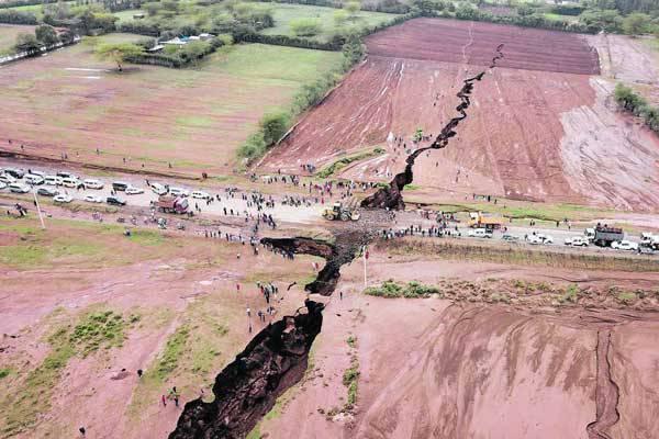 La Terre s'est ouverte dans la Vallée du Rift au Kenya
