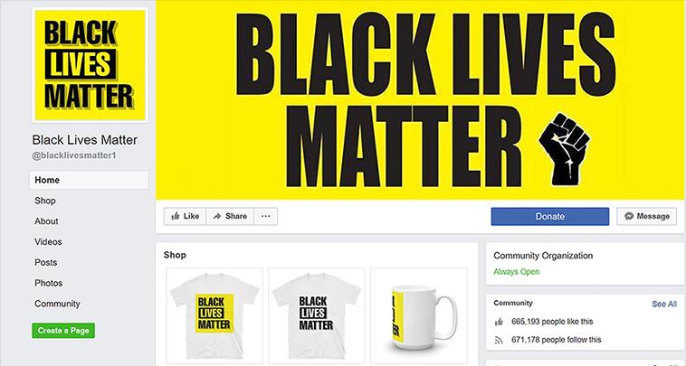 La page Facebook Black Live Matter était en fait une arnaque
