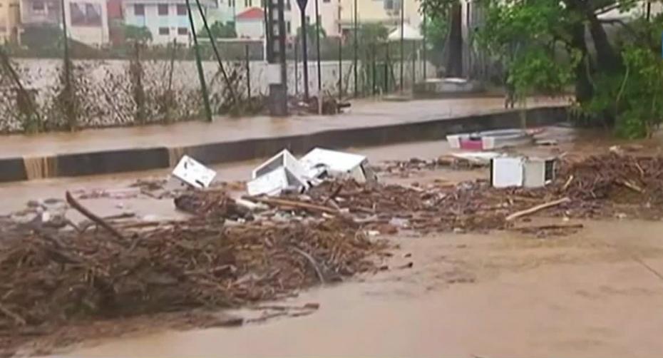 Météo: La Martinique inondée