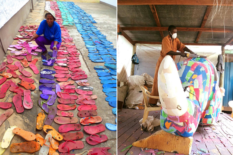 Le «Flip-Flops Art» ou l'expression du génie artistique Kényan
