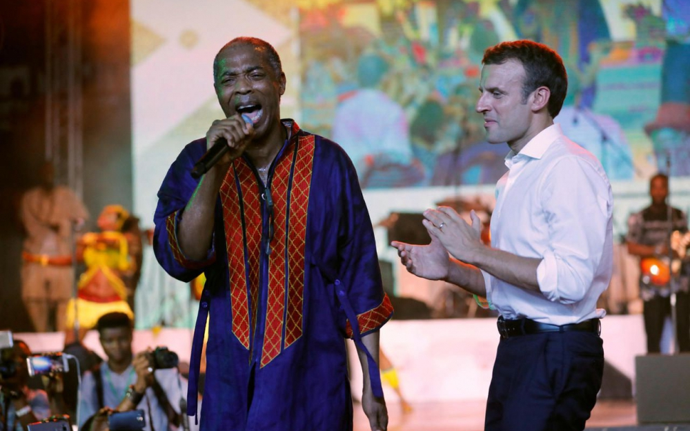 E. Macron au Shrine avec Femi Kuti