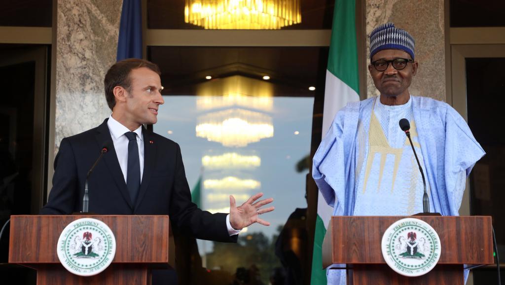 E. Macron et M. Buhari, Nigeria