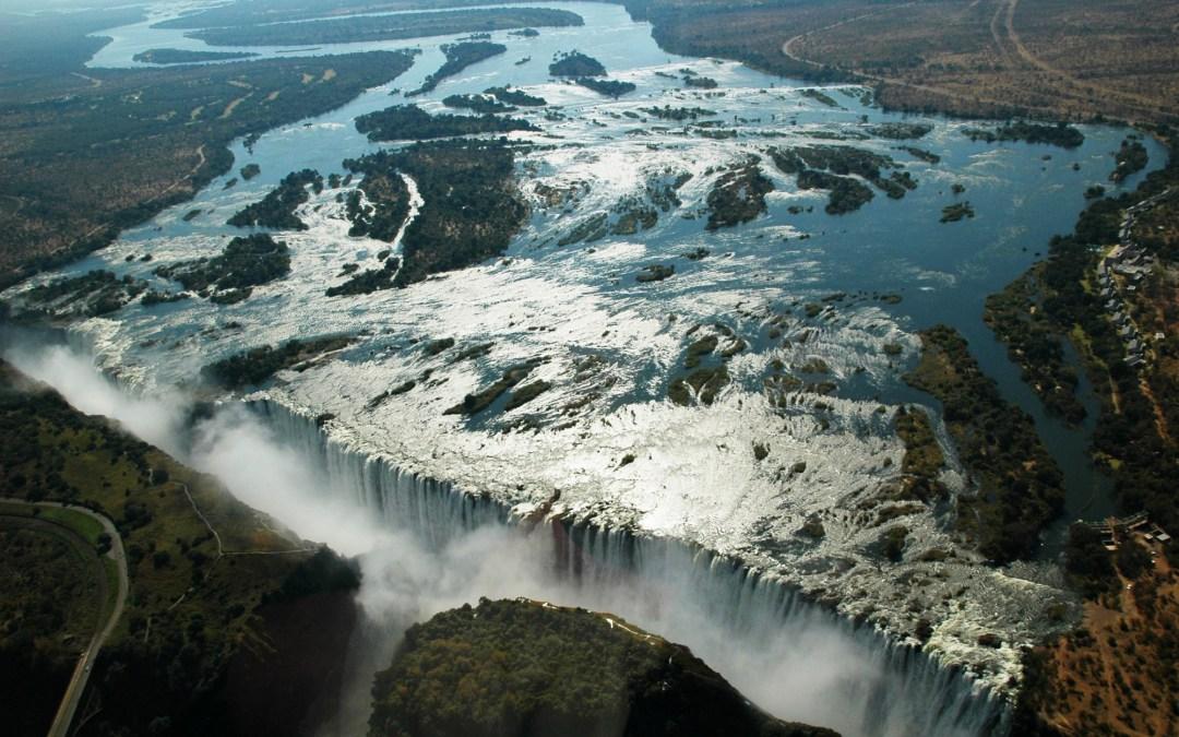 Les Chutes Victoria, à la frontière entre le Zimbabwe et la Zambie