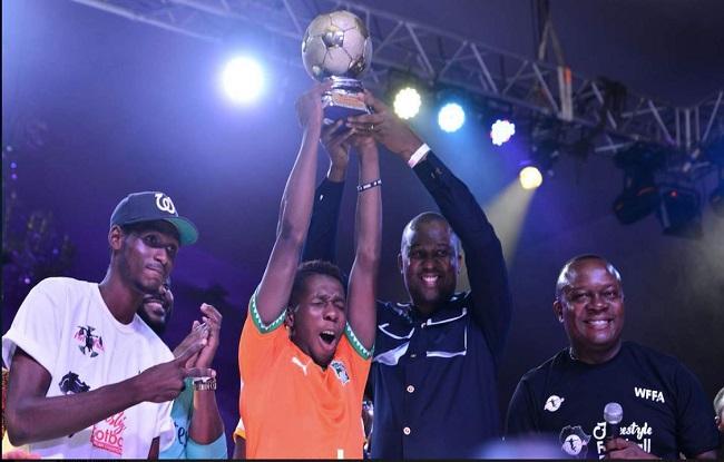 Le vainqueur du Championnat d'Afrique de foot freestyle est Ivoirien