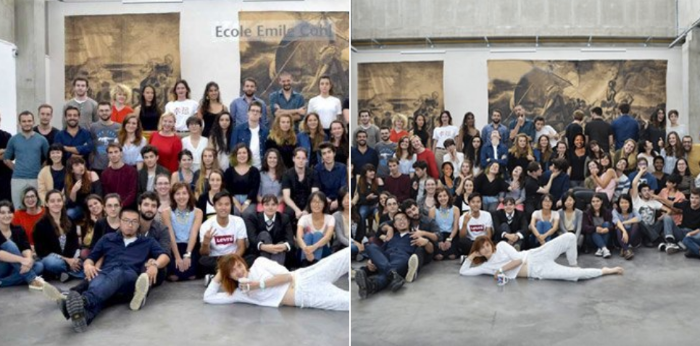 Des étudiants de l'école d'art Emile Cohl de Lyon ont été noircis pour «ajouter de la diversité» à la photo