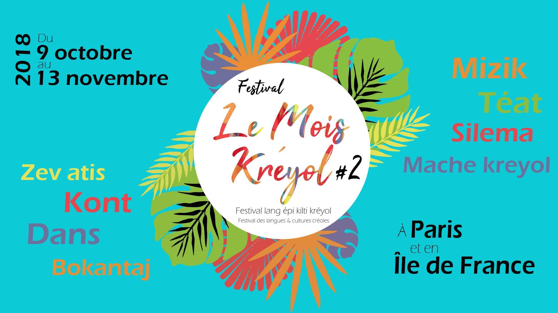 Le «Mois Kreyol » 2018 : festival lang épi kilti kreyol