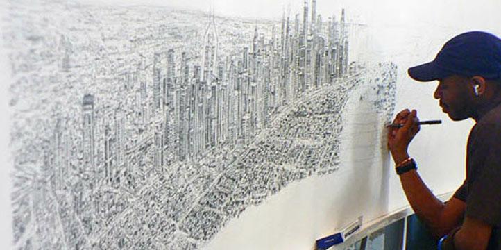 Cet artiste autiste est capable de reproduire de mémoire des villes entières