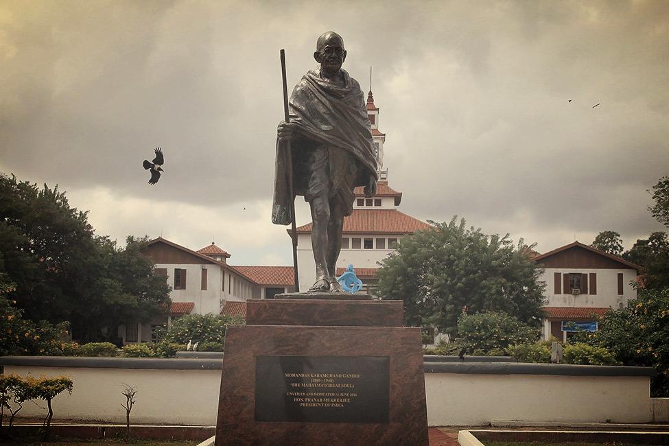 La statue de Gandhi enfin retirée de l'université du Ghana