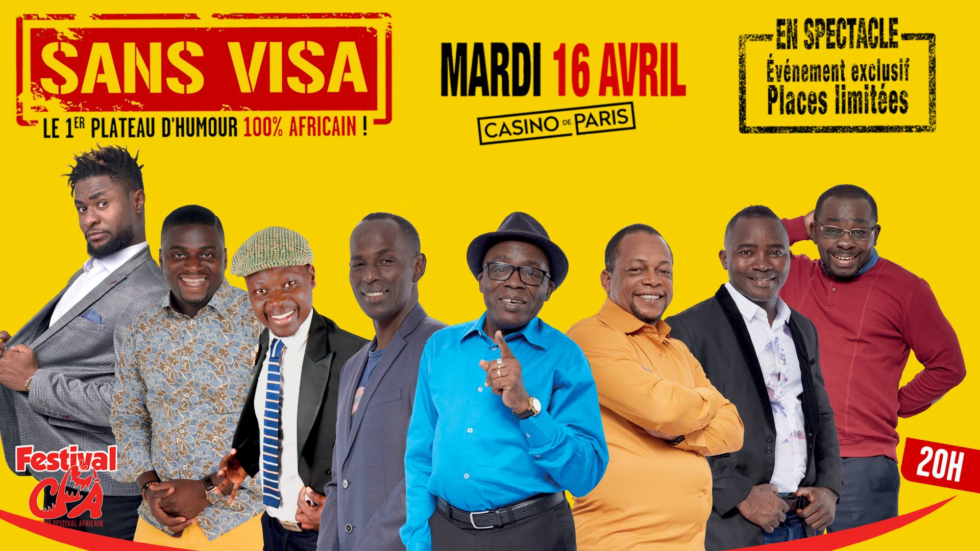 Sans Visa 3, la première étape du Comédie Festival Africain