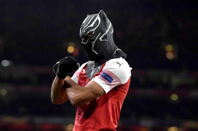 Pierre-Emerick Aubameyang aka Black Panther!