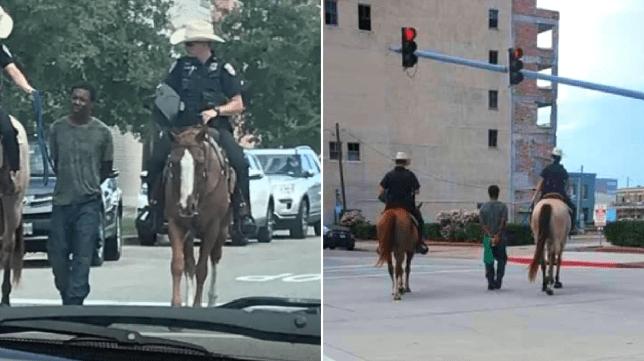 Quand la police texane tient un suspect Noir en laisse