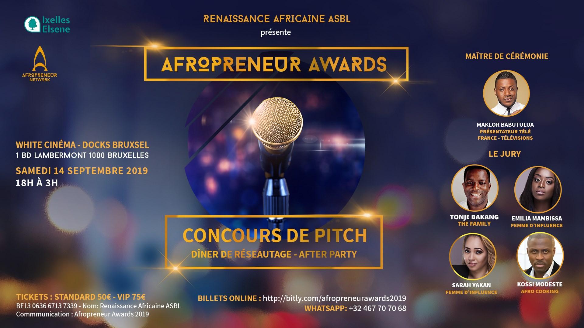 Afropreneur Awards, l'événement incontournable des entrepreneurs afro de Belgique