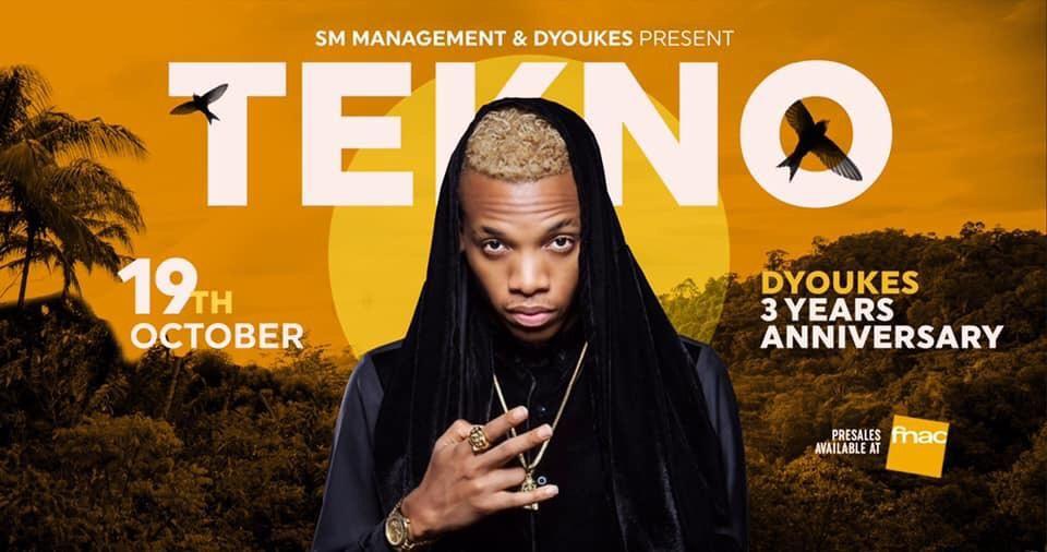Tekno A Bruxelles pour l'anniversaire du Dyoukes !