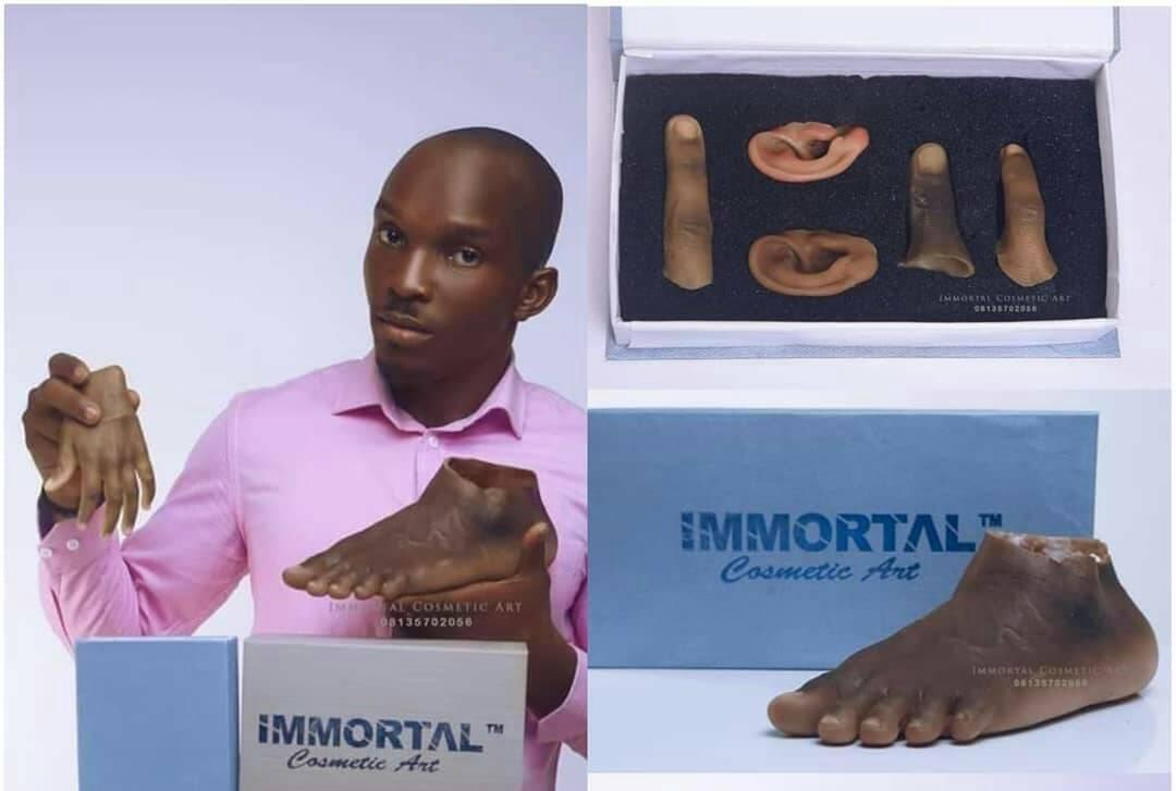 Cet artiste africain crée des prothèses pour personnes à la peau noire