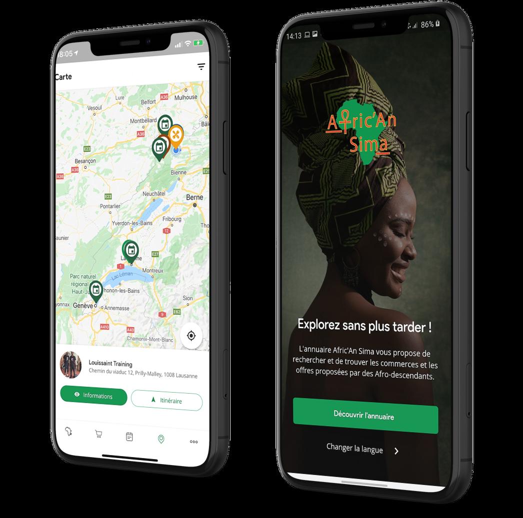 Afric'An Sima: l'application qui recense les commerces et événements afro!