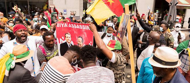 Une manifestation contre Paul Biya à Genève