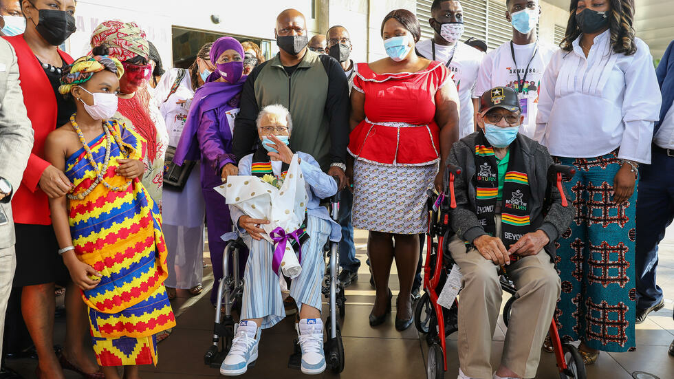 Des survivants du 'Massacre de Tulsa' visitent le Ghana