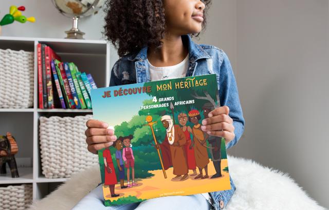 4 personnages africains mis en valeur dans un livre pour enfants!